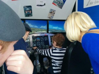 Flying the simulator...